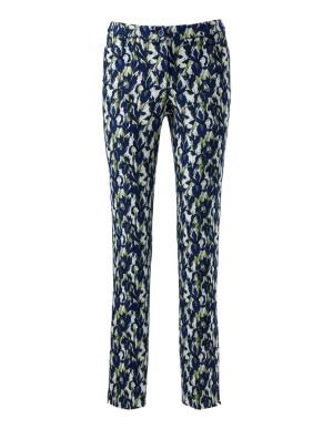 Modern print jacquard trousers