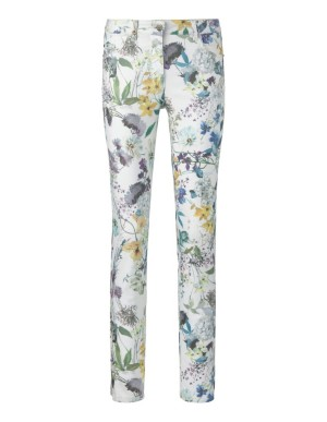 Stretch print jeans