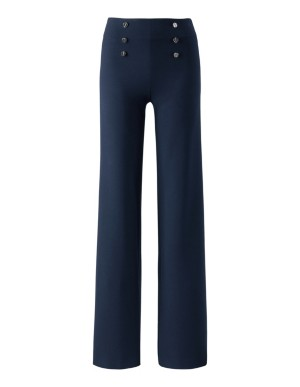 High-waisted trousers with contrasting stripe