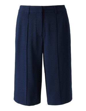 Crepe Bermuda shorts