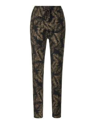 Leaf-print trousers