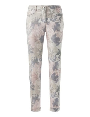 Leaf-patterned trousers