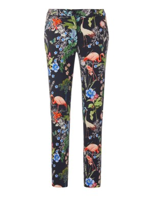 Flamingo print trousers