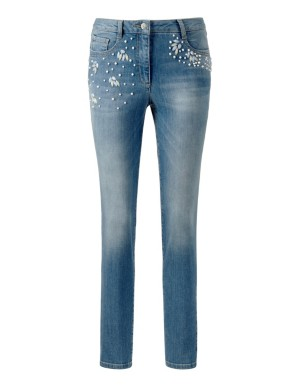Slim-line decorative jeans