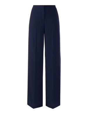 Wide, high-waisted trousers