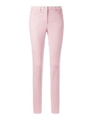 Textured polka dot trousers