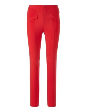 Skinny fit trousers with ribbon detail
