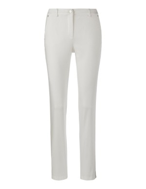 Trousers with metallic side stripes