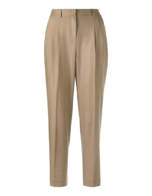 High-waisted, cropped trousers