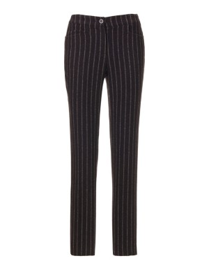 Tapered pinstripe trousers