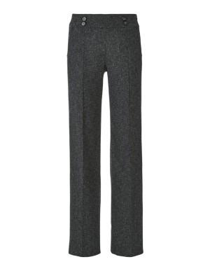 Wide tweed trousers