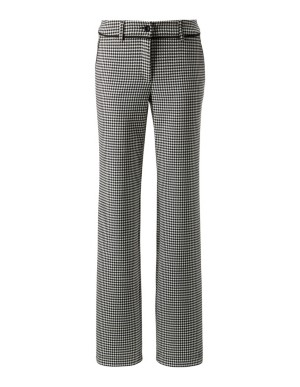Stretch dogtooth trousers