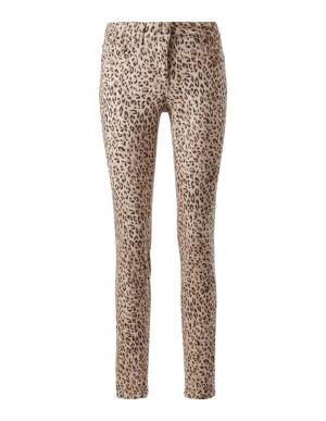 Leopard print stretch trousers