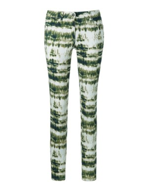 Batik effect ankle-length trousers