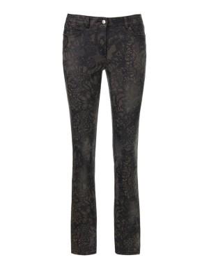 Printed slim-line trousers
