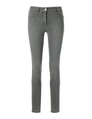 Four-pocket jeans with side stripe