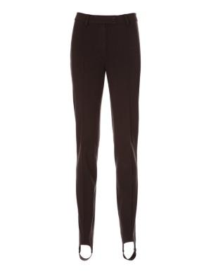 Stretch cotton stirrup trousers