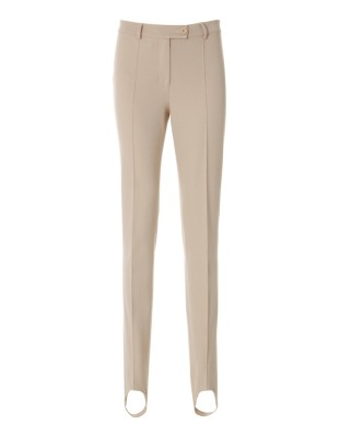 Stretch cotton stirrup trousers