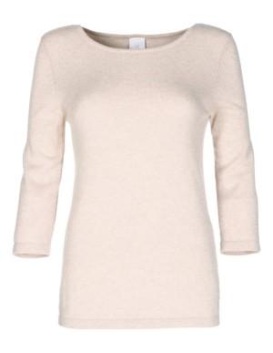 Boat-necklined cashmere jumper