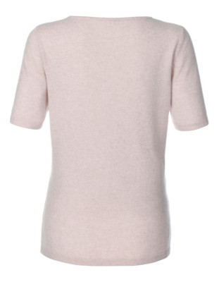 Short-sleeved, two-ply cashmere jumper