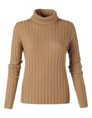 Ribbed, elasticated Merino wool jumper