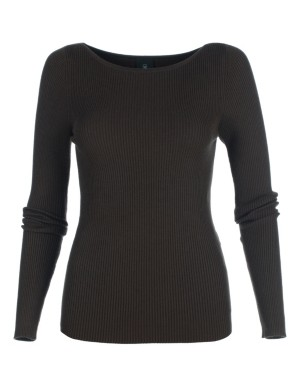 Form-fitting ribbed jumper