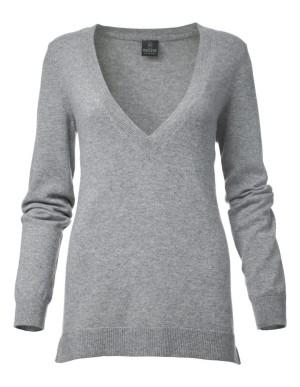 V-necked cashmere jumper