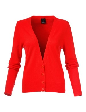 Fitted cardigan with deep hems