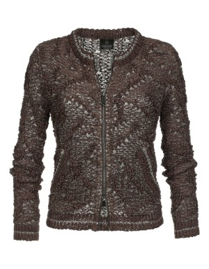 Knitted blouson jacket