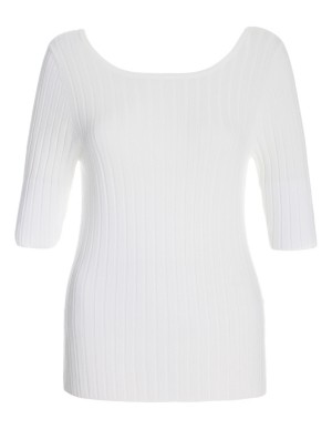 Slim-fit ribbed jumper