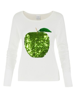 Apple motif jumper