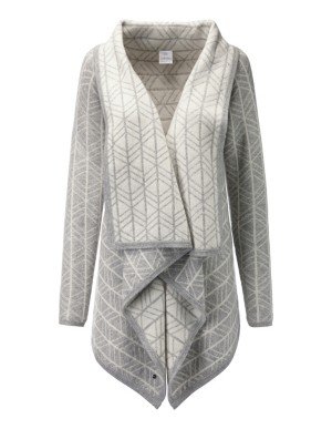 Reversible cashmere cardigan