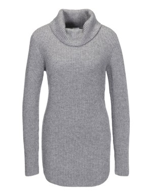 Long polo neck jumper