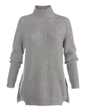 Loose-fitting cashmere jumper with eyelet detail