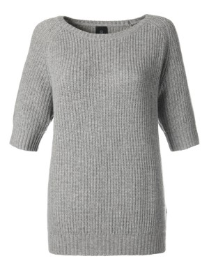 Short-sleeved, loose-fitting cashmere jumper