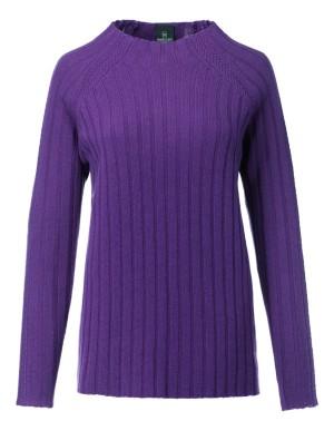 Textured raglan sleeve jumper