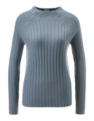 Raglan-sleeve textured jumper