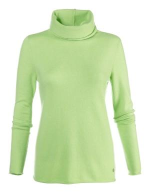 Figure-flattering, long-sleeved cashmere jumper