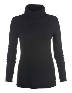 Figure-flattering, long-sleeved cashmere jumper