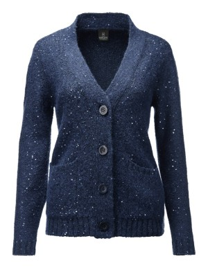 Gleaming, sequined V-neck cardigan