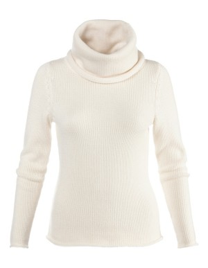 Fluffy cowl-neck jumper with cashmere