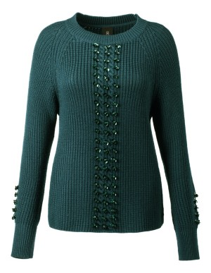 Braided jumper with sequins