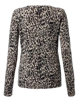 Figure-flattering leopard print cardigan