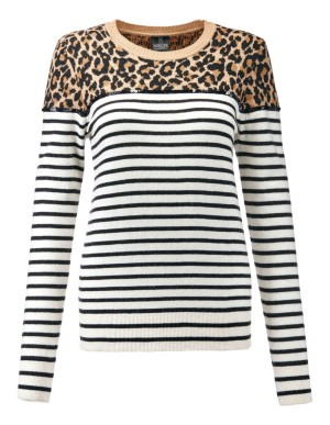 Mixed pattern sequined jumper