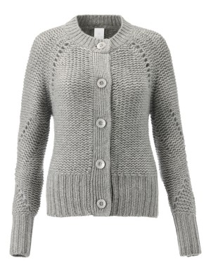 Voluminous nine-ply cashmere cardigan