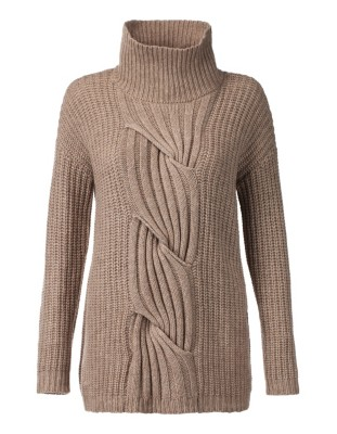 Chunky-knit cable pattern jumper