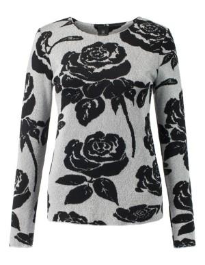 Glittering rose jacquard jumper