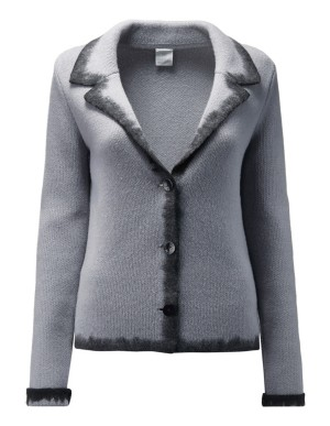 Contrasting edge knitted blazer