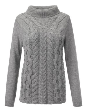 Jumper with cable-knit front