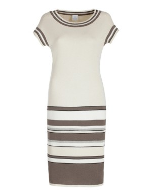 Knitted colour block dress